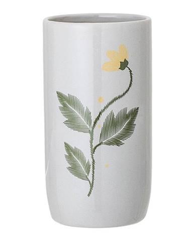 Sivá váza z kameniny Bloomingville Laburnum
