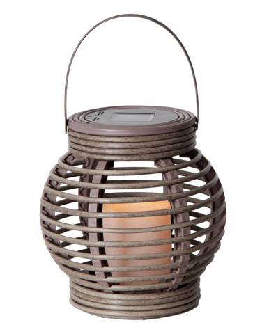 Sivý solárny LED lampáš vhodný do exteriéru Best Season Rustic