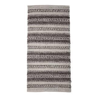 Hnedo-sivý koberec Bloomingville Poly, 70 x 140 cm