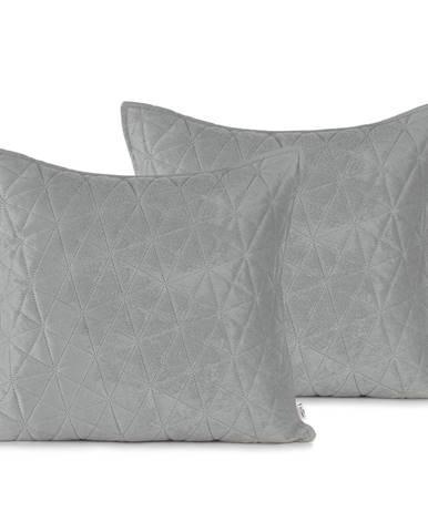 Súprava 2 sivých obliečok na vankúš AmeliaHome Laila, 45 × 45 cm
