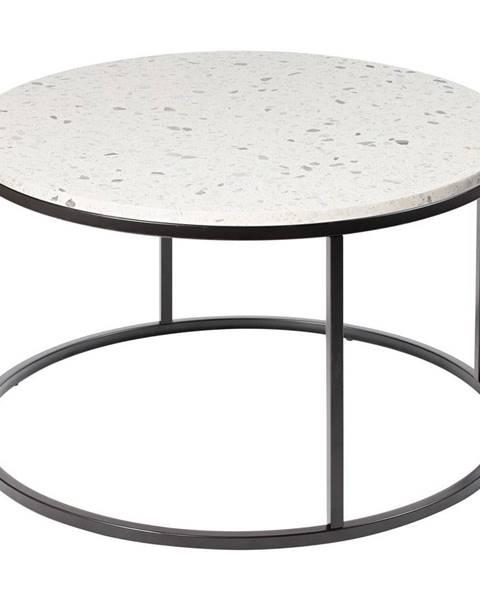 RGE Konferenčný stolík s kamennou doskou RGE Cosmos, ø 85 cm