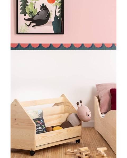 Adeko Pojazdný úložný box z borovicového dreva Adeko Kutu Alma, 60 cm