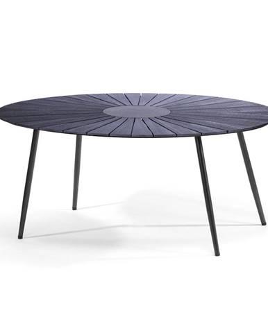 Čierny záhradný stôl s kamennou doskou Le Bonom Marienlist, 115 x 190 cm