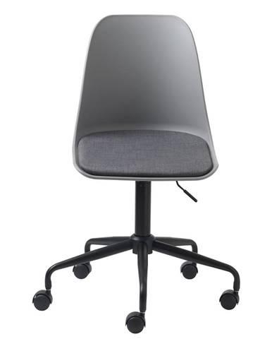 Sivá kancelárska stolička Unique Furniture