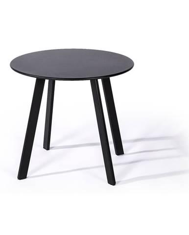 Čierny záhradný stôl Le Bonom Full Steel, ø50cm