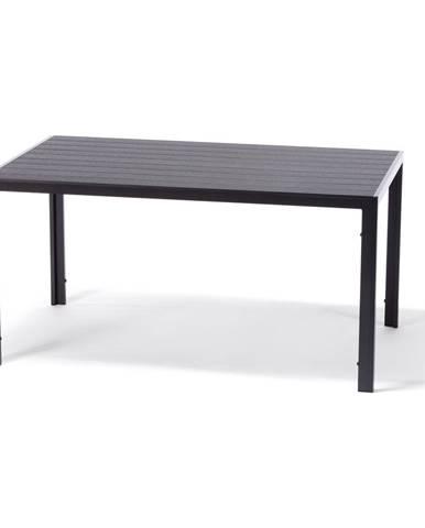 Sivý záhradný stôl s artwood doskou Le Bonom Viking, 90 x 150 cm