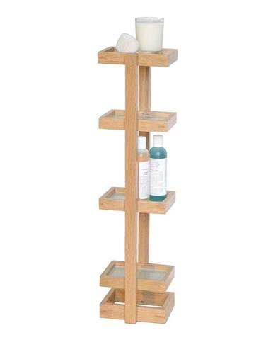 Drevený stojan do kúpeľne z dubového dreva Wireworks Caddy Mezza, výška 73cm