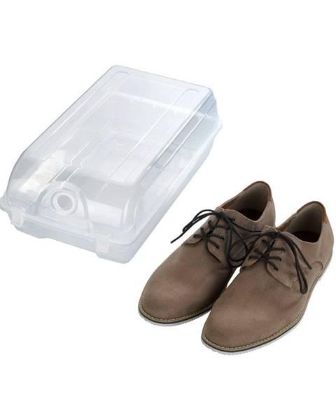 Wenko Transparentné úložný box na topánky Wenko Smart, šírka 21 cm