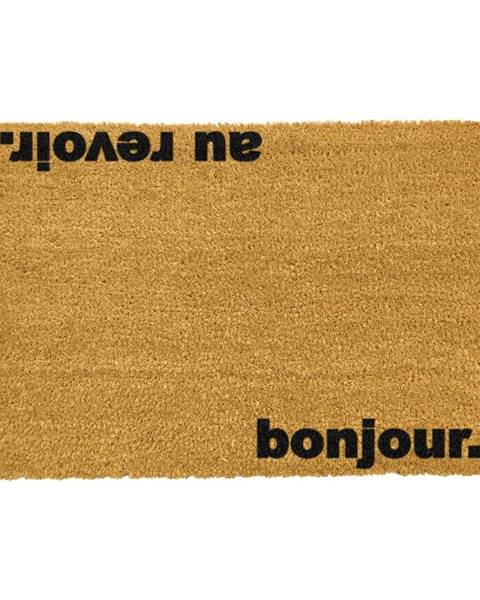 Artsy Doormats Rohožka z prírodného kokosového vlákna Artsy Doormats Bonjour Au Revoir, 40 x 60 cm