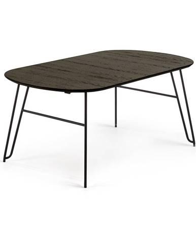 Čierny rozkladací jedálenský stôl La Forma Norfort, 170 x 100 cm