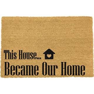 Rohožka z prírodného kokosového vlákna Artsy Doormats Our Home, 40 x 60 cm