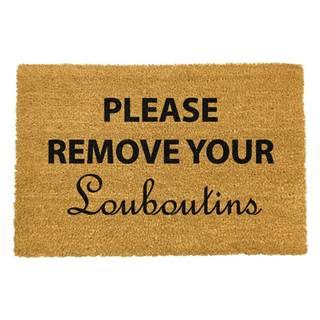 Rohožka z prírodného kokosového vlákna Artsy Doormats Your Louboutins, 40 x 60 cm