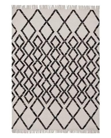 Béžovo-čierny koberec Asiatic Carpets Hackney Diamond, 160 x 230 cm