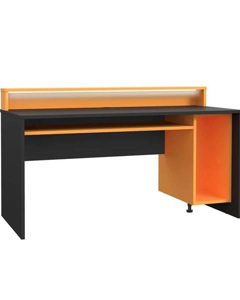 Möbelix Herný Stôl Tezaur Oranžová/čierna Tezaur Š:160cm