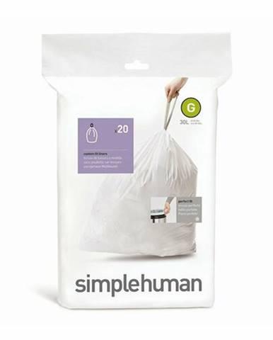 Vrecia do odpadkového koša 30 L, Simplehuman typ G, zaťahovacie, 20 ks v balení