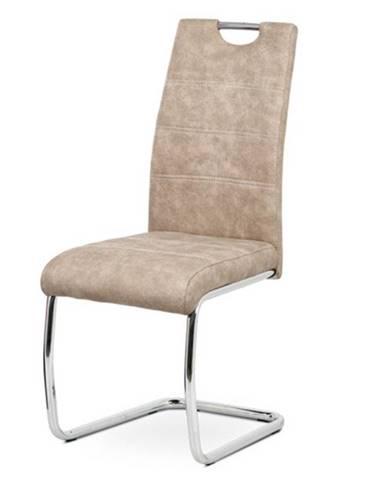 Jedálenská stolička GRAMA krémová/kov