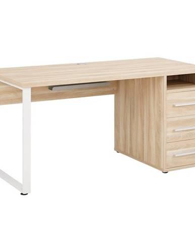 Písací stôl MUDDY dub natur, so zásuvkami