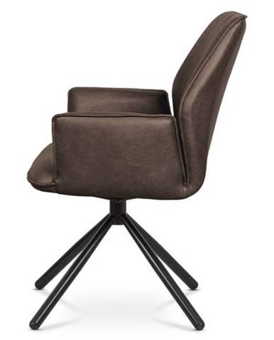 Jedálenská stolička DEBORA hnedá/čierna
