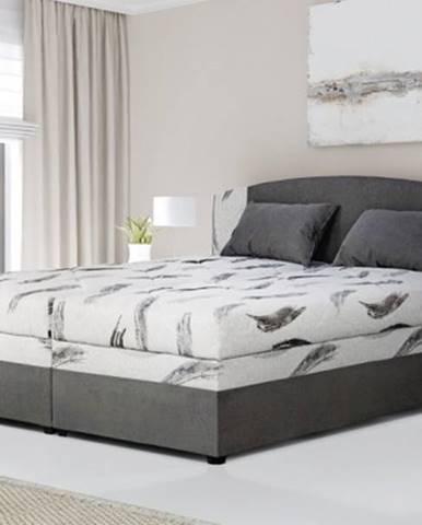 Čalúnená posteľ Kappa 180x200, sivá, vr. matracov, roštu a ÚP