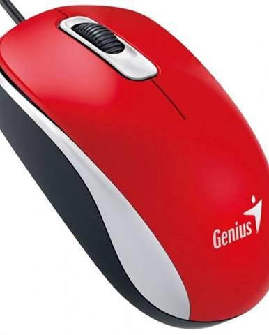 Drôtová myš Genius DX-110, 1000 dpi, červená