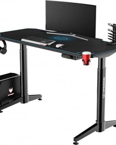 Herný stôl ULTRADESK LEVEL BLUE UDESK-LVA-BL + ZDARMA podložka pod myš a hub