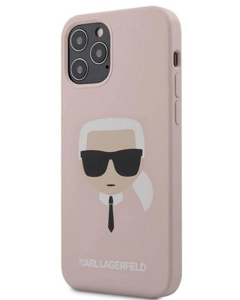 Karl Lagerfeld Kryt na mobil Karl Lagerfeld Head na Apple iPhone 12/12 Pro ružový