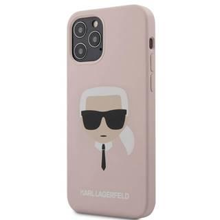 Kryt na mobil Karl Lagerfeld Head na Apple iPhone 12/12 Pro ružový