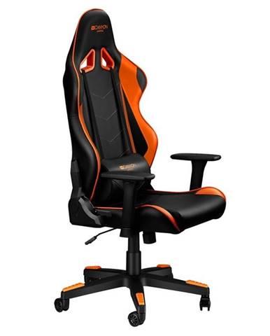 Herná stolička Canyon Deimos čierna/oranžová