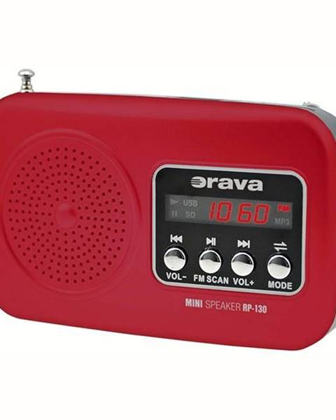 Orava Rádioprijímač Orava RP-130 červen