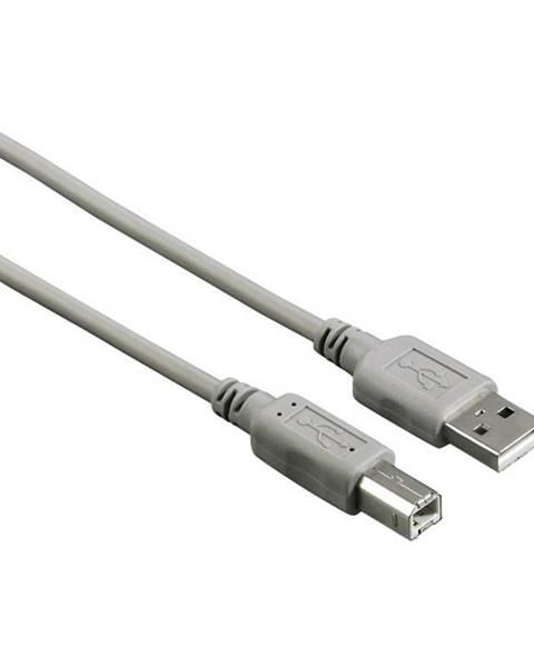 Hama Kábel Hama USB / USB-B, 3m sivý