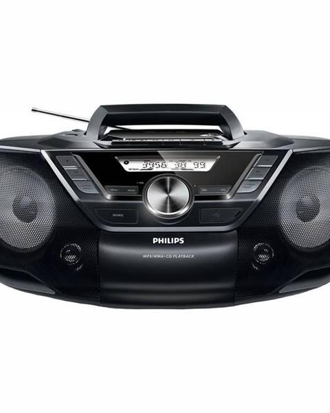 Philips Rádiomagnetofón s CD Philips AZ787 čierny