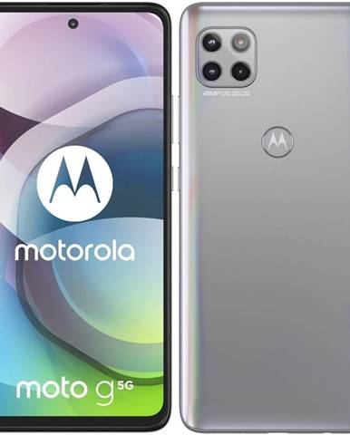 Mobilný telefón Motorola Moto G 5G strieborný