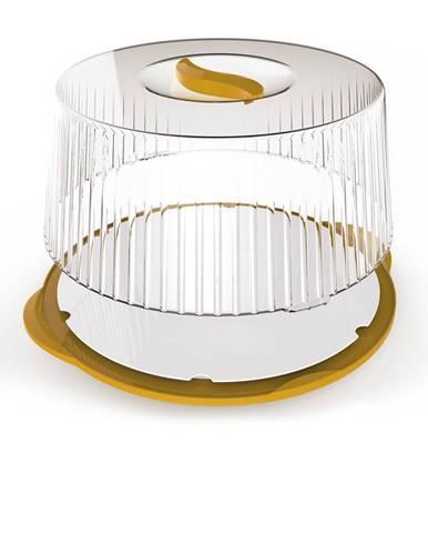 Prenosný box na tortu 36,5 cm, žltá
