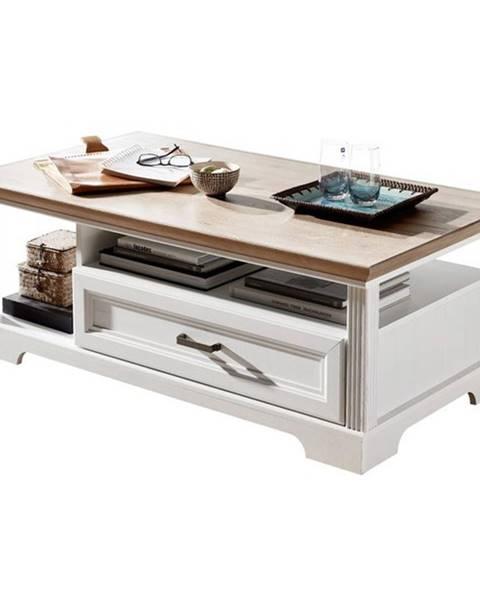 Sconto Konferenčný stolík JASMIN pínia svetlá/dub artisan