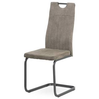 Jedálenská stolička EVELYN hľuzovková/sivá