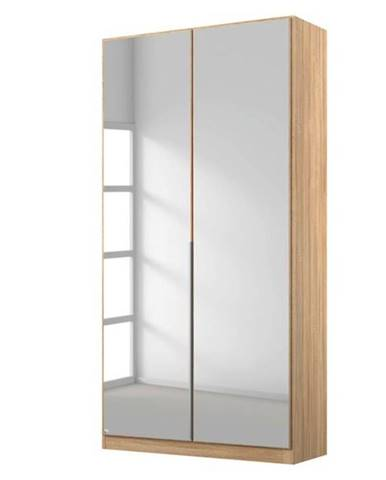 Šatníková skriňa ARIANNA dub sonoma, 91 cm, 2 zrkadlá