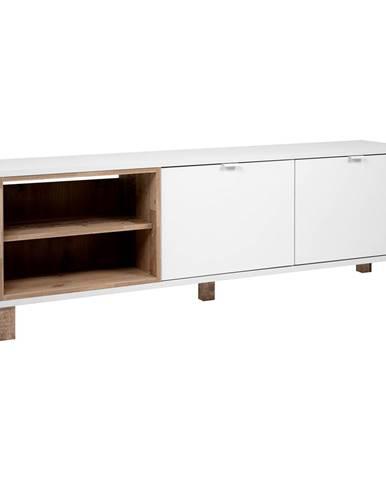 TV stolík MENORCA 56A svetlý antik/biela
