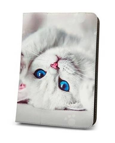 """Puzdro na tablet GreenGo Cute Kitty, 9""""- 10"""""""