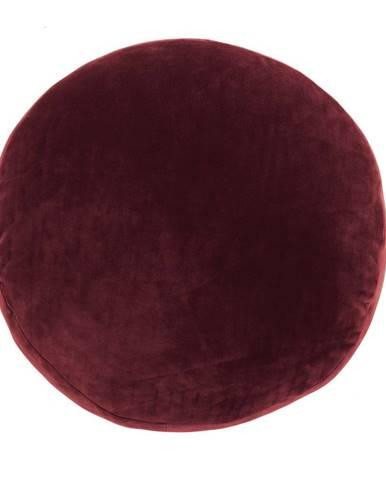 Červený dekoratívny vankúš z mikrovlákna Tiseco Home Studio Marshmallow, ø 40 cm
