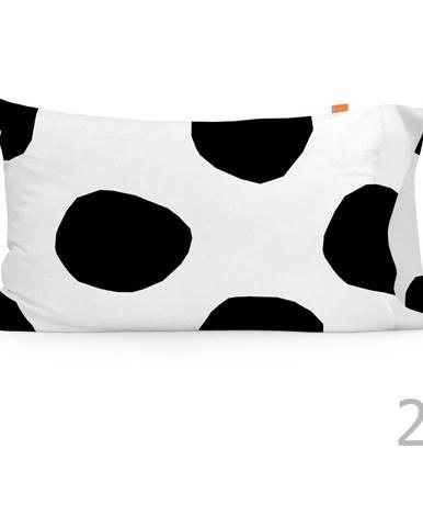 Súprava 2 bavlnených obliečok na vankúš Blanc Dot, 50×75 cm