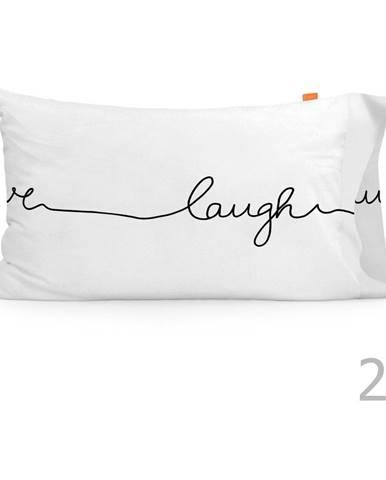 Súprava 2 bavlnených obliečok na vankúš Blanc Live, 50 × 75 cm