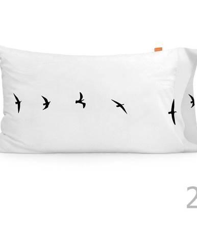 Súprava 2 bavlnených obliečok na vankúš Blanc Trip, 50 × 75 cm