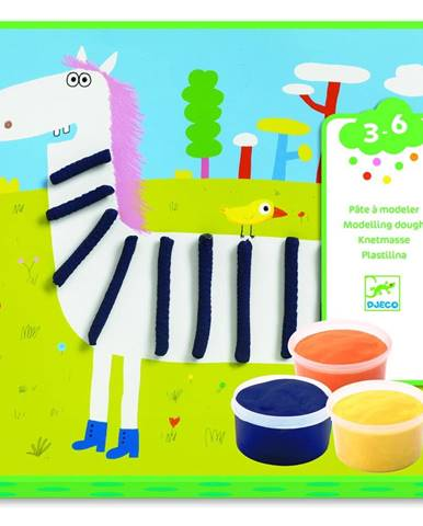 Výtvarný set s plastelínou Djeco Zvieratká