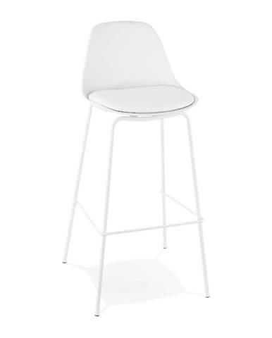 Biela barová stolička Kokoon Escal