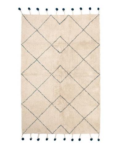 Bavlnený koberec s modrými detailmi Nattiot Tanvi, 110×170 cm