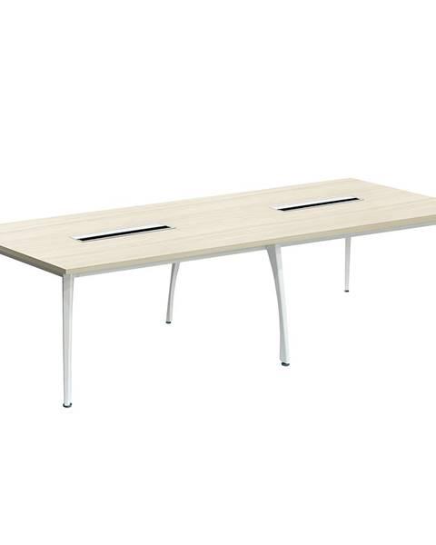 Kondela Rokovací stôl dub prírodný/biela DOLEN