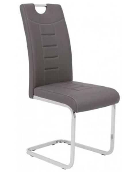 ASKO - NÁBYTOK Jedálenská stolička Ruby, šedá ekokoža%