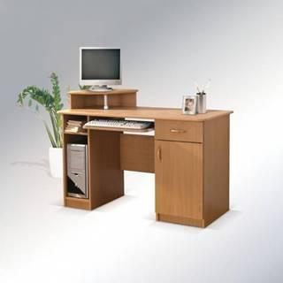 ArtMadex Písací stolík Max s okrúhlou policou Max