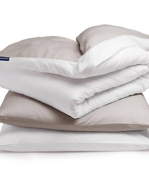 Sleepwise Sleepwise Soft Wonder-Edition, posteľná bielizeň, 155 x 200 cm, taupe/biela