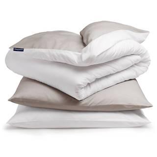 Sleepwise Soft Wonder-Edition, posteľná bielizeň, 155 x 200 cm, taupe/biela